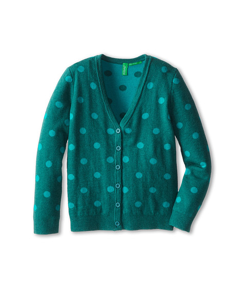 United Colors of Benetton Kids - L/S Cardigan 14CRC6041 (Toddler/Little Kids/Big Kids) (37M Hunter Green) Girl's Sweater