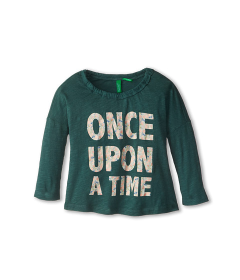 United Colors of Benetton Kids - T-Shirt L/S 3BA4C111S (Toddler/Little Kids/Big Kids) (09V Hunter Green) Girl's T Shirt