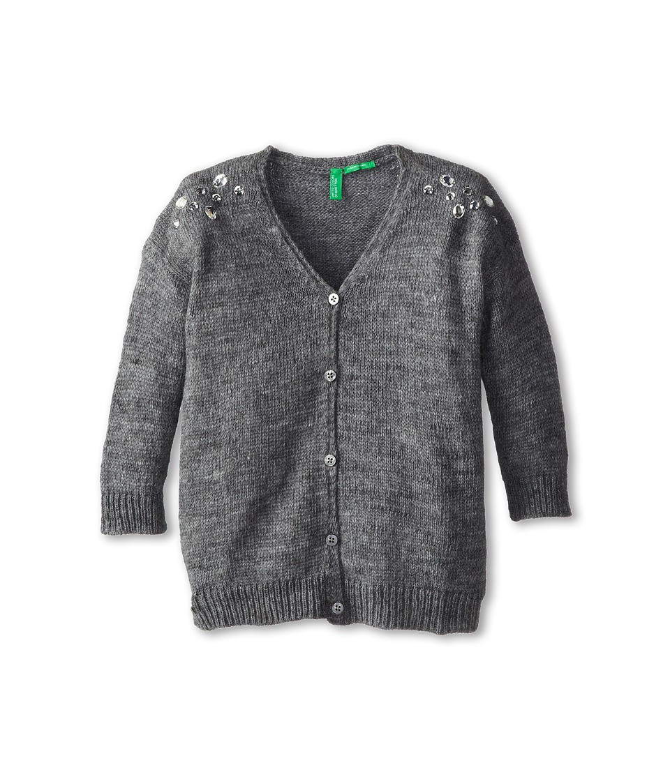 United Colors of Benetton Kids - L/S Cardigan 1083C6053 (Toddler/Little Kids/Big Kids) (Dark Grey) Girl's Sweater