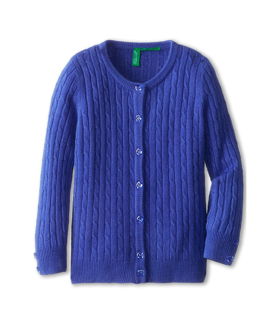 United Colors of Benetton Kids - L/S Sweater 12EGC5036 (Toddler/Little Kids/Big Kids) (03H Bright Blue) Girl's Sweater