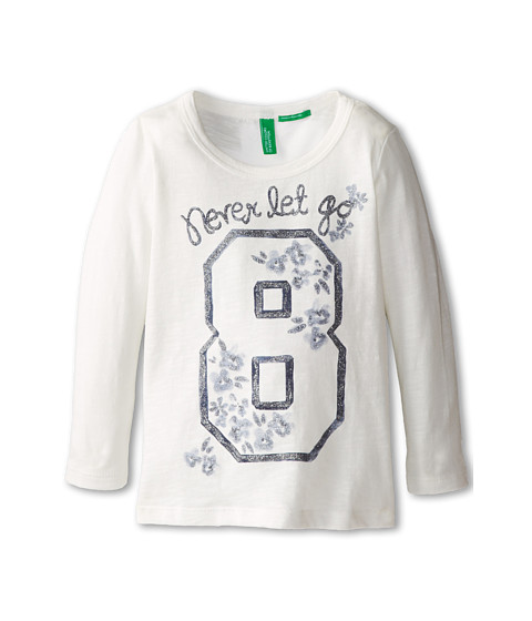 United Colors of Benetton Kids - T-Shirt L/S 3P7HC112Z (Toddler/Little Kids/Big Kids) (074 Cream) Girl