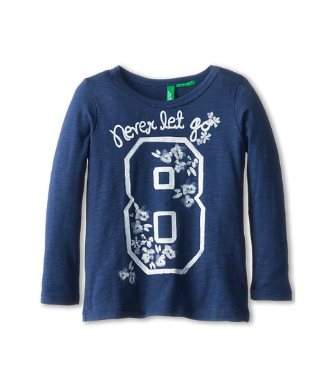 United Colors of Benetton Kids - T-Shirt L/S 3P7HC112Z (Toddler/Little Kids/Big Kids) (Blue) Girl's T Shirt