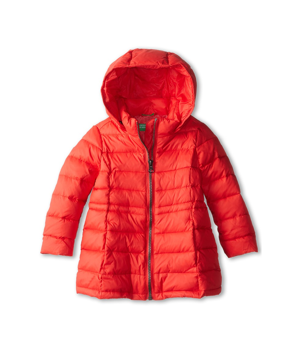 United Colors of Benetton Kids - Heavy Jacket 2RQ45K020 (Toddler/Little Kids/Big Kids) (01N Coral) Girl's Coat