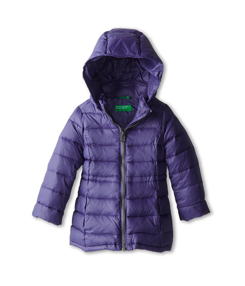 United Colors of Benetton Kids - Heavy Jacket 2RQ45K020 (Toddler/Little Kids/Big Kids) (34H Blue) Girl's Coat