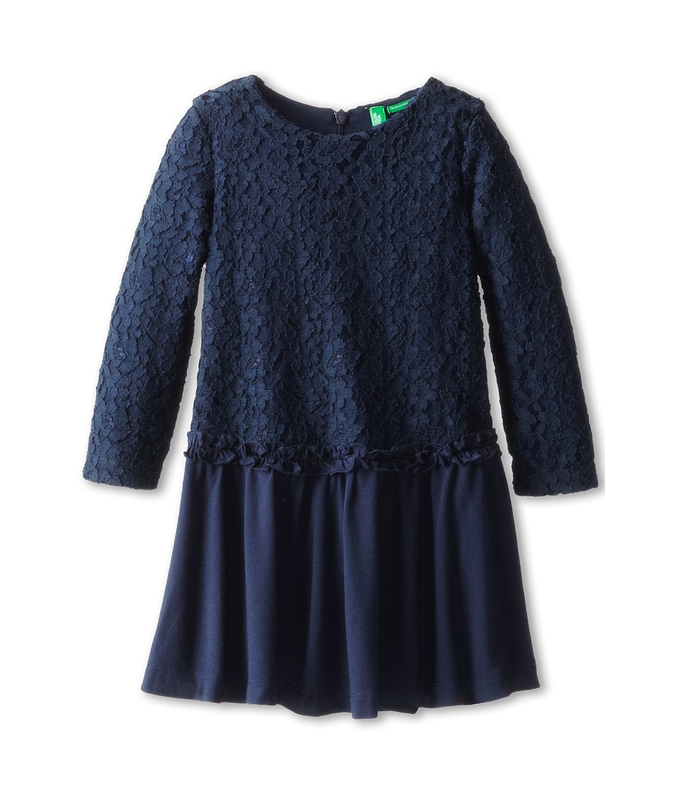 United Colors of Benetton Kids - Dress 4DIY5V090 (Toddler/Little Kids/Big Kids) (13C Navy Blue) Girl's Dress