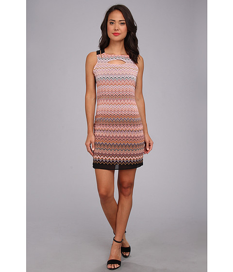 KAS New York - Amya Sheath Dress with Basket Weave (Multi) Women