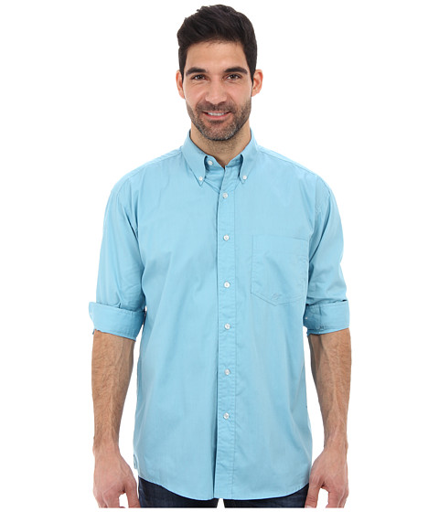 Roper - City One Pocket Button L/S Shirt (Teal) Men's Long Sleeve Button Up