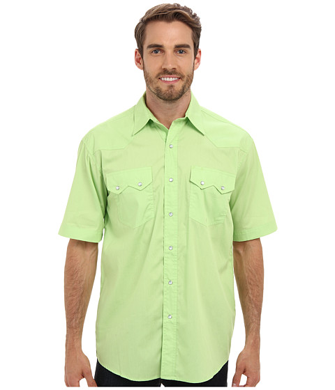 Roper - City Snap S/S Shirt (Lime) Men's Robe