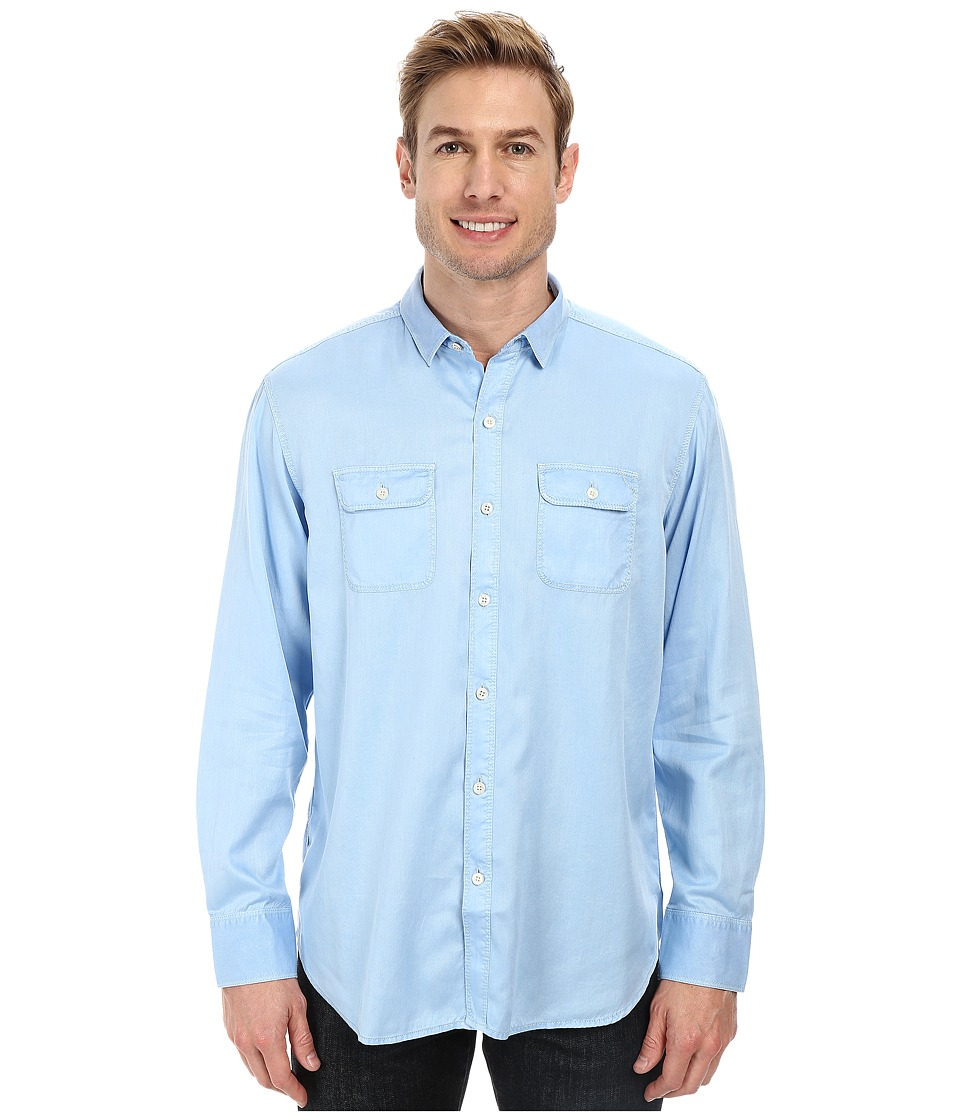 Tommy Bahama - Twill Factor L/S Button Up (Chambray Blue) Men's Long Sleeve Button Up