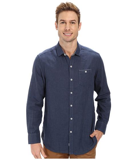 Tommy Bahama Denim - Island Modern Fit Seeing Double L/S Shirt (Navy Heather) Men