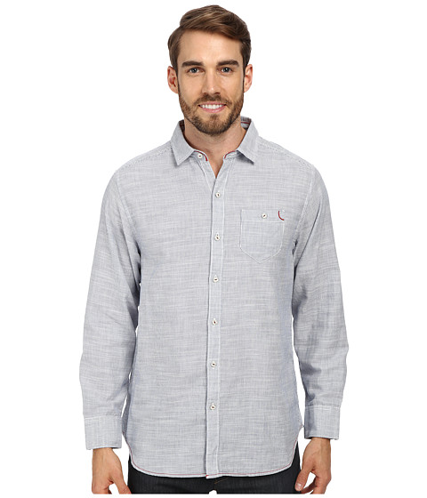 Tommy Bahama Denim - Havasu Stripe L/S Button Up (Dress Blue) Men's Long Sleeve Button Up