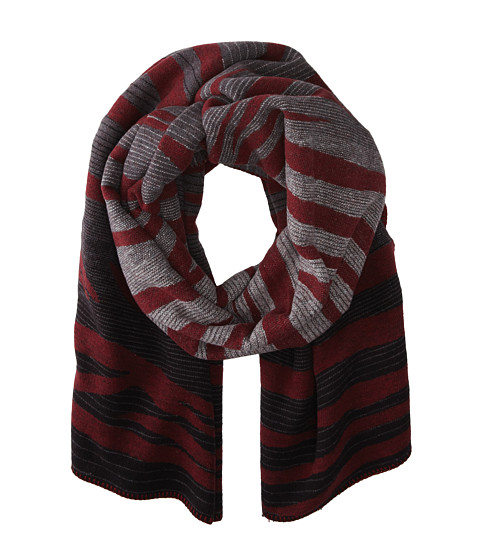 Marc by Marc Jacobs - Tora Stripe Scarf (Black Multi) Scarves
