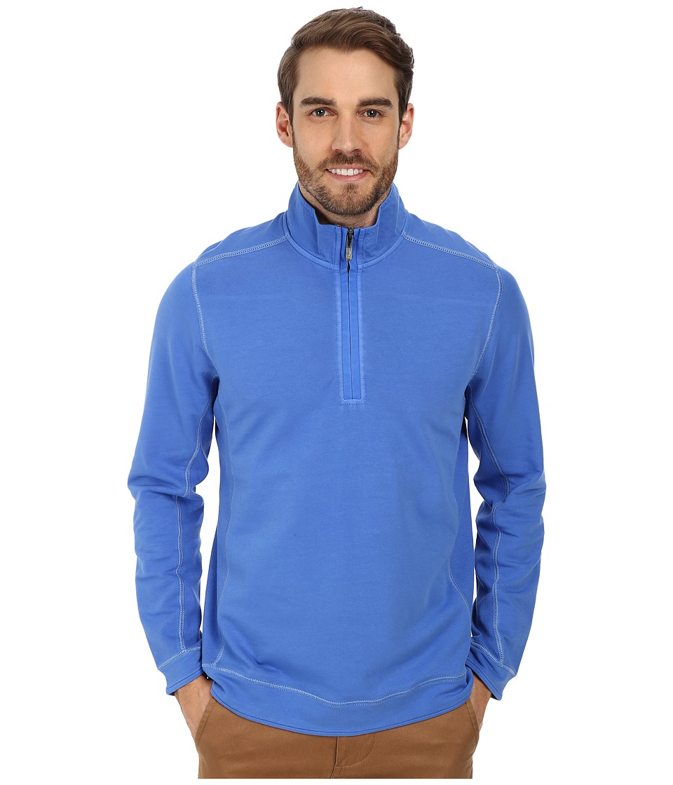 Tommy Bahama - Ben And Terry Half-Zip Sweatshirt (Blue Splash) Men's Long Sleeve Pullover