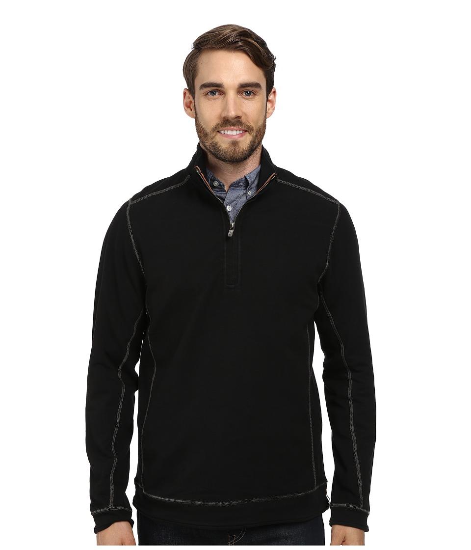 Tommy Bahama - Ben And Terry Half-Zip Sweatshirt (Black) Men's Long Sleeve Pullover