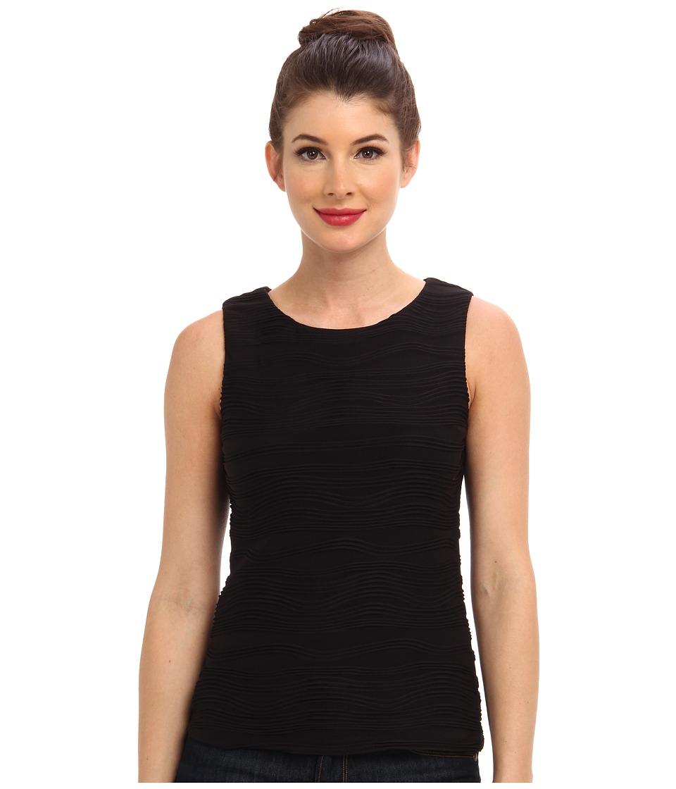 Calvin Klein Wavy Textured Knit (Black) Women