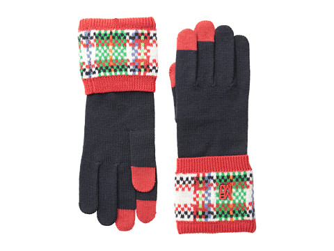 Marc by Marc Jacobs - Percy Gloves (Normandy Blue Multi) Dress Gloves