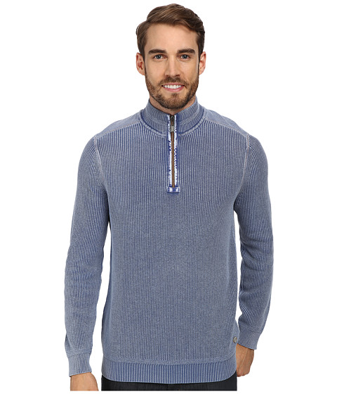 Tommy Bahama Denim - East River Half Zip Sweatshirt (Dockside Blue) Men's Sweatshirt