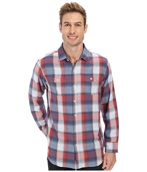 Tommy Bahama Denim - Plaid Bryson L/S Button Up (Red Ginger) Men's Long Sleeve Button Up
