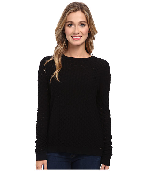 Element - Sly Crew Neck Sweater (Black) Women's Sweater