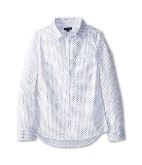 Tommy Hilfiger Kids - Classic School Boy L/S Button Up (Big Kids) (White) Girl