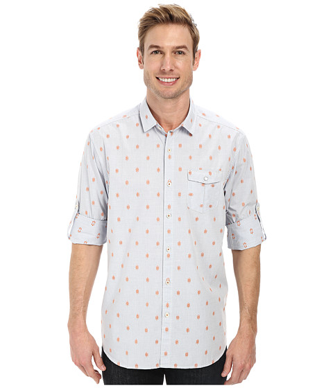 Tommy Bahama Denim - Tommy Clipper L/S Button Up (Chambray 2) Men's Long Sleeve Button Up