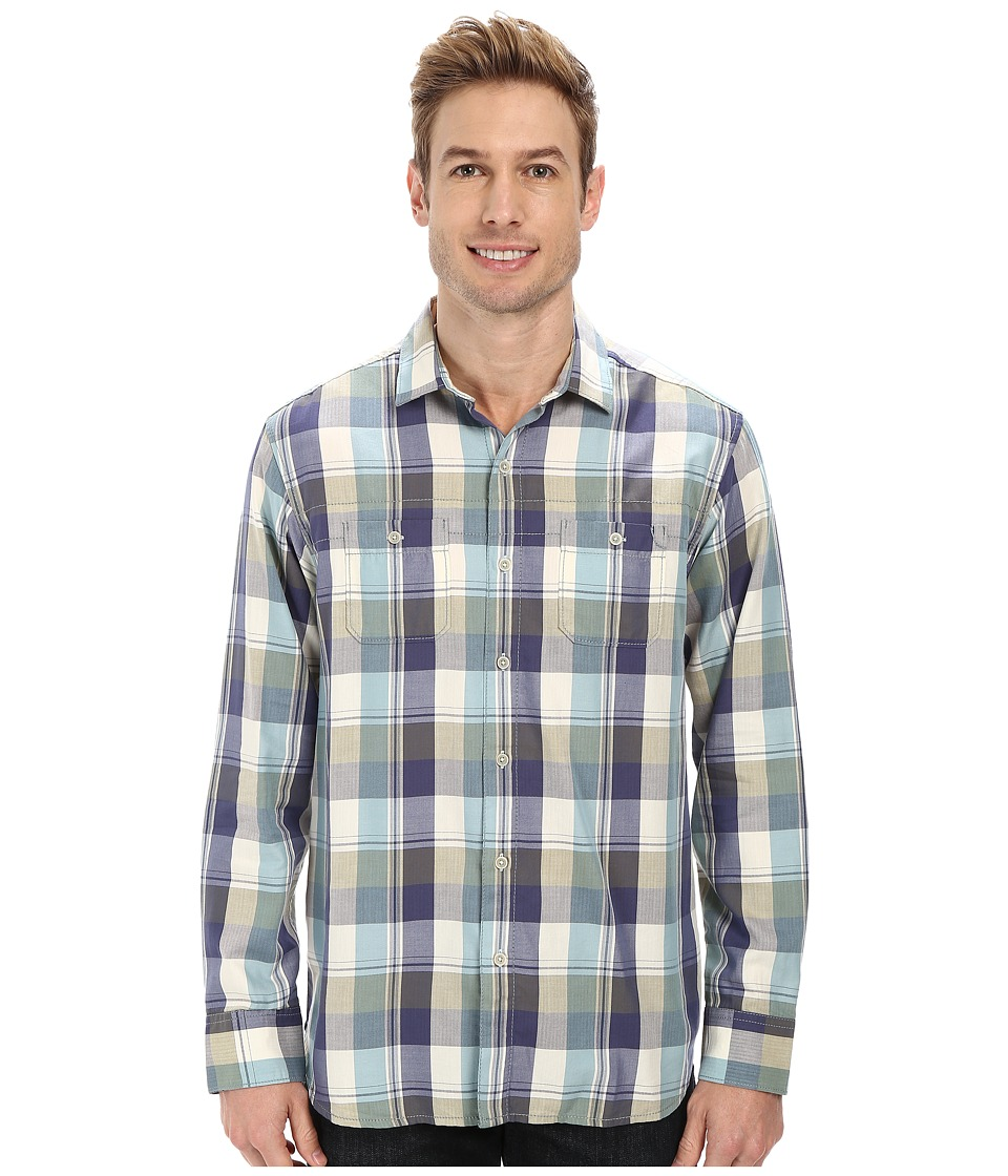 Tommy Bahama Denim - Plaid Canyons L/S Button Up (Fir Green) Men