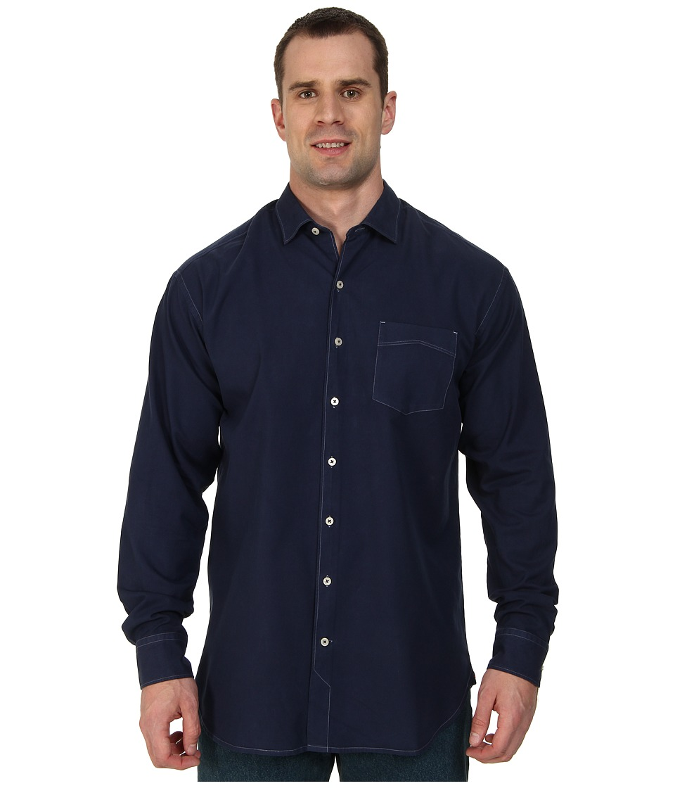 Tommy Bahama Big & Tall - Big Tall Island Twill L/S Button Up (Navy) Men's Long Sleeve Button Up