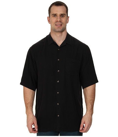 Tommy Bahama Big & Tall - Big Tall Hamilton S/S Button Up (Black) Men's Short Sleeve Button Up