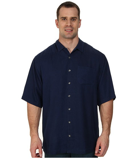 Tommy Bahama Big & Tall - Big Tall Hamilton S/S Button Up (Navy) Men's Short Sleeve Button Up