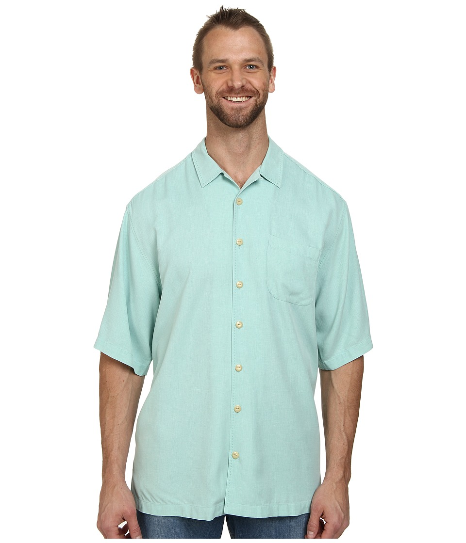 Tommy Bahama Big & Tall - Big Tall Hamilton S/S Button Up (Sky Tint) Men's Short Sleeve Button Up