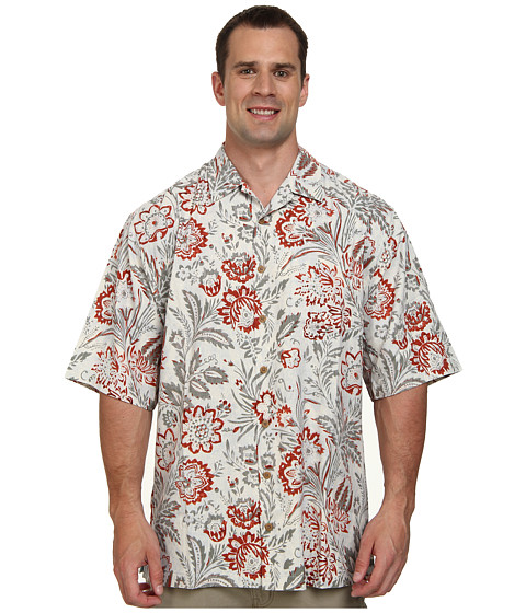 Tommy Bahama Big & Tall - Big Tall Garen of Blooms Camp Shirt (Roseroot) Men's Short Sleeve Button Up