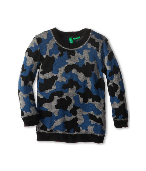 United Colors of Benetton Kids - Sweater L/S 1061Q1086 (Toddler/Little Kids/Big Kids) (100 Black) Boy