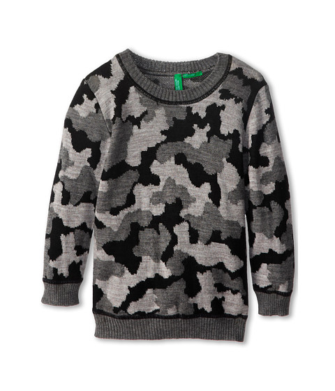 United Colors of Benetton Kids - Sweater L/S 1061Q1086 (Toddler/Little Kids/Big Kids) (Dark Grey) Boy's Sweater