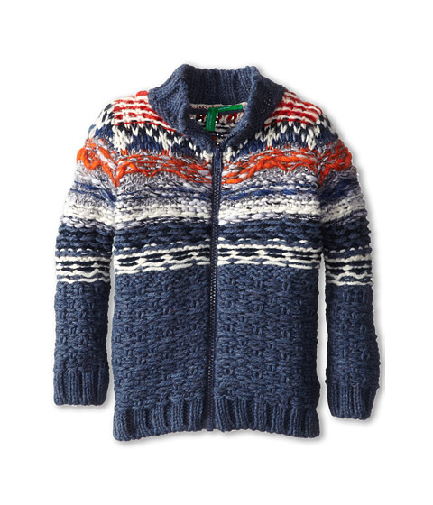 United Colors of Benetton Kids - L/S Sweater 1105Q5056 (Toddler/Little Kids/Big Kids) (72T Denim Blue) Boy's Sweater