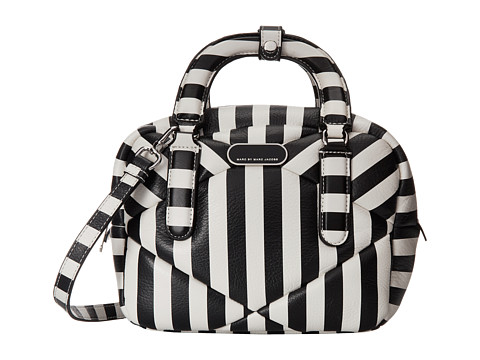 Marc by Marc Jacobs - Turn Around Stripe Small Satchel (Black Multi) Satchel Handbags