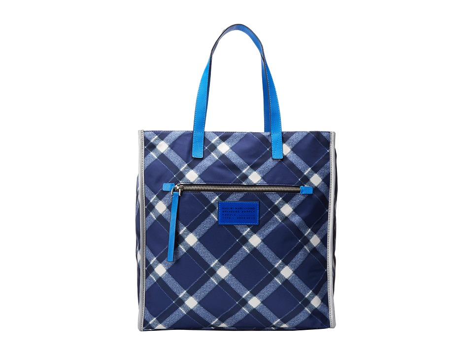 Marc by Marc Jacobs - Marc It Plaid TT Tote (Skipper Blue Multi) Tote Handbags