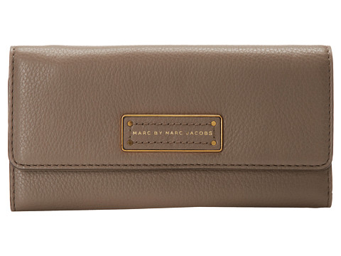Marc by Marc Jacobs - Too Hot To Handle Long Trifold (Cement) Checkbook Wallet