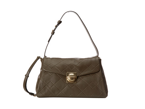Marc by Marc Jacobs - Circle in Square Scored Shoulder Bag (Dirty Martini) Shoulder Handbags