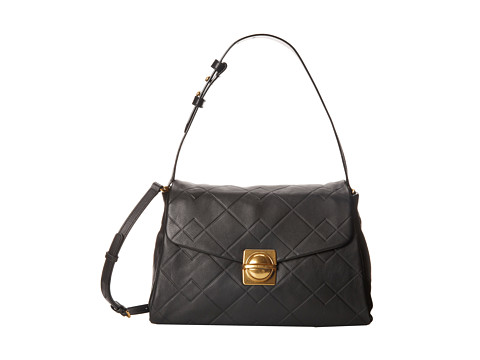 Marc by Marc Jacobs - Circle in Square Scored Shoulder Bag (Black) Shoulder Handbags