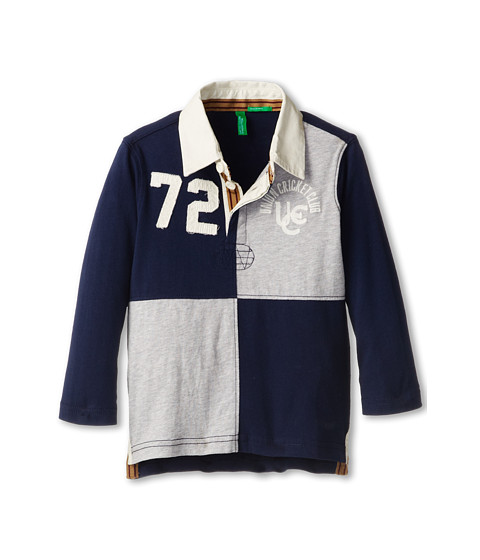 United Colors of Benetton Kids - L/S Polo Shirt 3YQ8C3010 (Toddler/Little Kids/Big Kids) (13C Navy Blue) Girl's Clothing