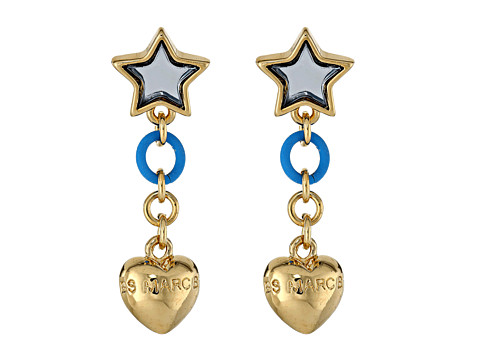 Marc by Marc Jacobs - Star And Puffy Heart Earring (Silver Mirror) Earring