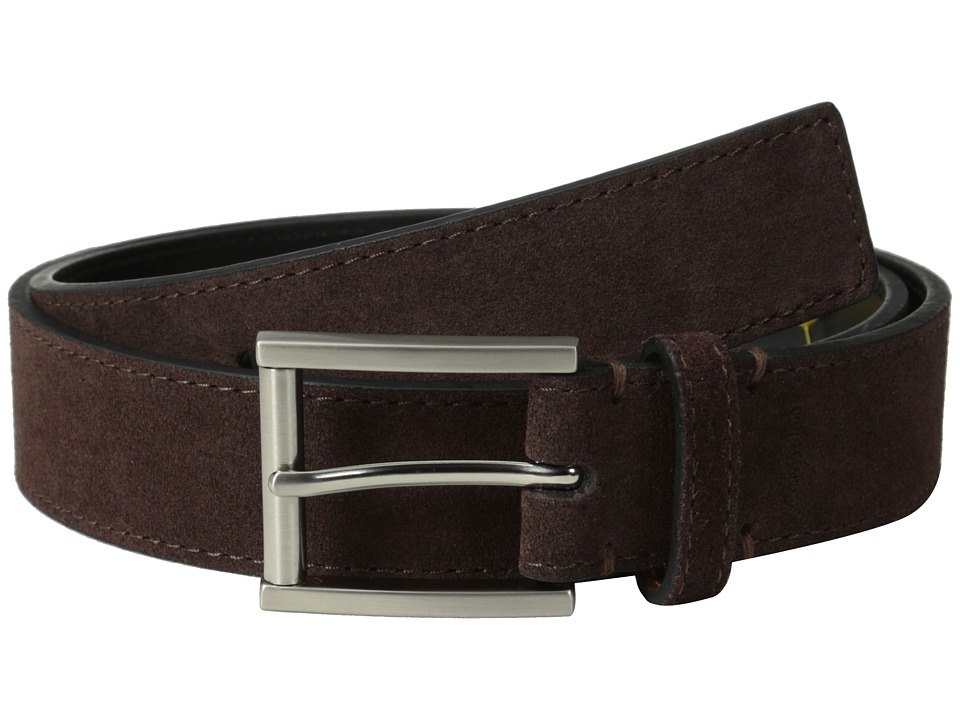 Calvin Klein - 32MM Suede Belt w/ Harness Buckle (Brown) Men's Belts