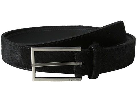 Calvin Klein - 32MM Belt w/ Harness Buckle (Black) Men