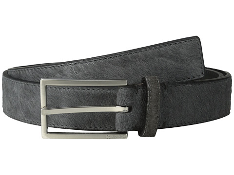 Calvin Klein - 32MM Belt w/ Harness Buckle (Dark Grey) Men