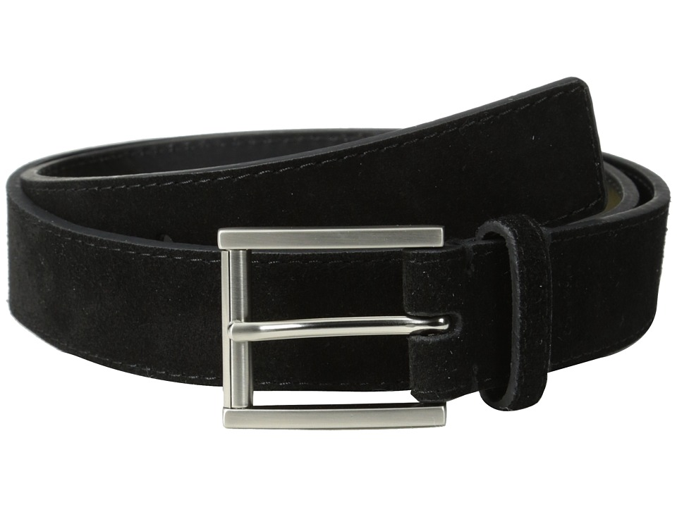 Calvin Klein - 32MM Suede Belt w/ Harness Buckle (Black) Men's Belts