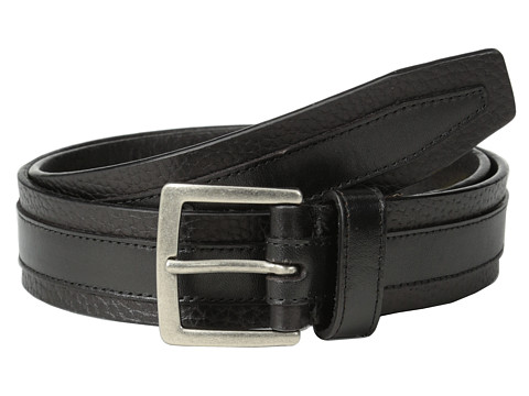 John Varvatos - 38mm Leather Belt (Black) Men's Belts
