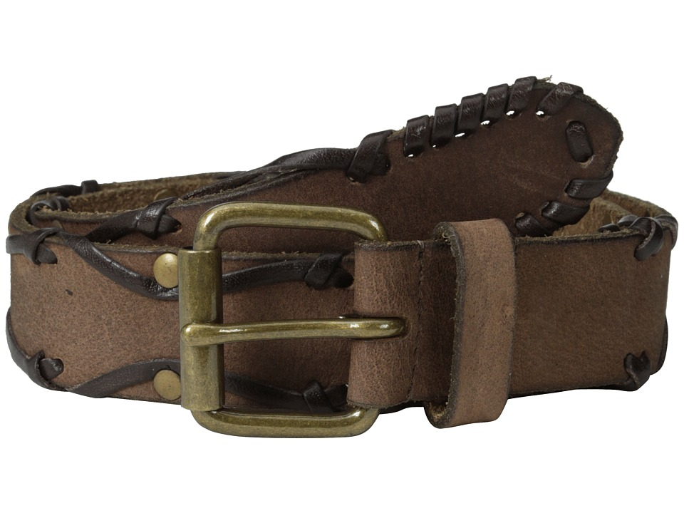 John Varvatos - 38mm Leather Belt w/ Harness Buckle (Chocolate 2) Men