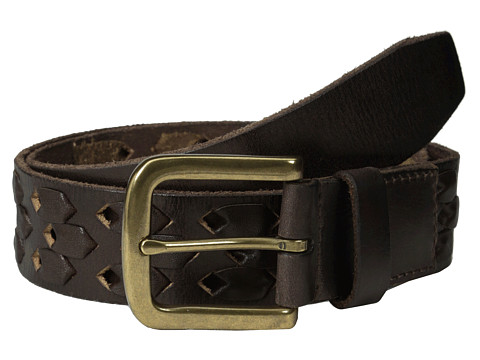 John Varvatos - 38mm Leather Belt w/ Harness Buckle (Chocolate 1) Men