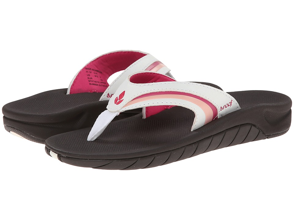 Reef Slap 3 (Brown/White/Pink) Women