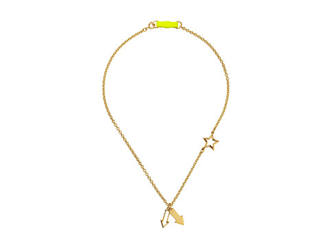Marc by Marc Jacobs - Pointing Bow Tie Necklace (Safety Yellow) Necklace
